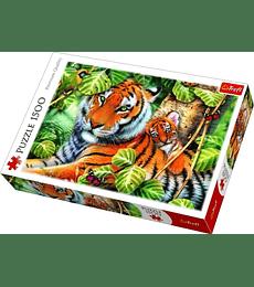 Puzzle Trefl 1500 Pcs - Two Tigers