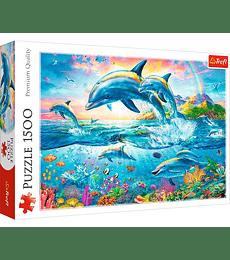 Puzzle Trefl 1500 Pcs - Dolphin Family