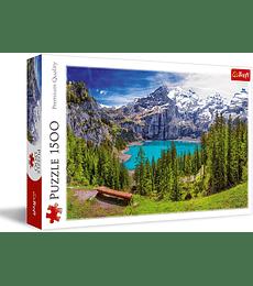 Puzzle Trefl 1500 Pcs - Lake Oeschinen, Alps, Switzerland