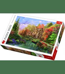Puzzle Trefl 1500 Pcs - Cottage by the Lake