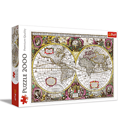 Puzzle Trefl 2000 Pcs - A New Land and Water Map of the Entire Earth, 1630