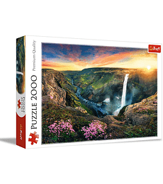 Puzzle Trefl 2000 Pcs - Haifoss Waterfall, Iceland