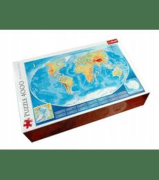 Puzzle Trefl 4000 Pcs - Large Physical Map of the World