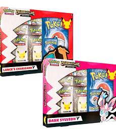 Preventa - Pokémon TCG: Celebrations Collections: Lance's Charizard V or Dark Sylveon V Ingles
