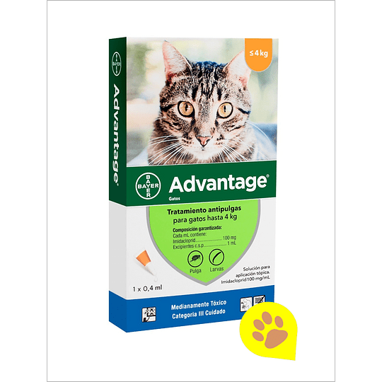 Advantage Pipeta Gato - Hasta 4 Kg
