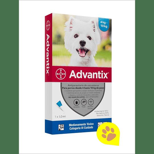 Advantix Pipeta 4 - 10 Kg 1 ml