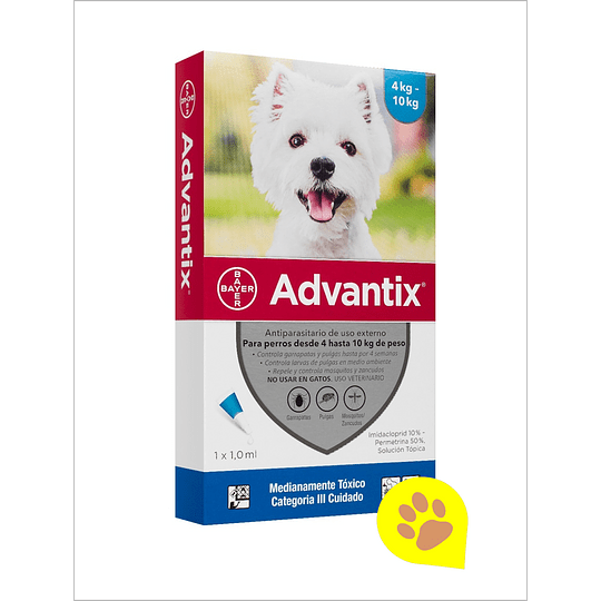 Advantix Pipeta 4 - 10 Kg
