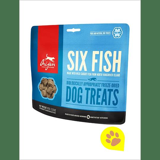 Orijen Treats Six Fish Perro 42,5 Gr