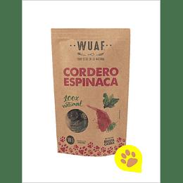 Wuaf Snack Cordero Espinaca 100 Gr