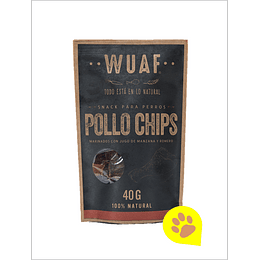 Wuaf Snack Chip Pollo 40 Gr