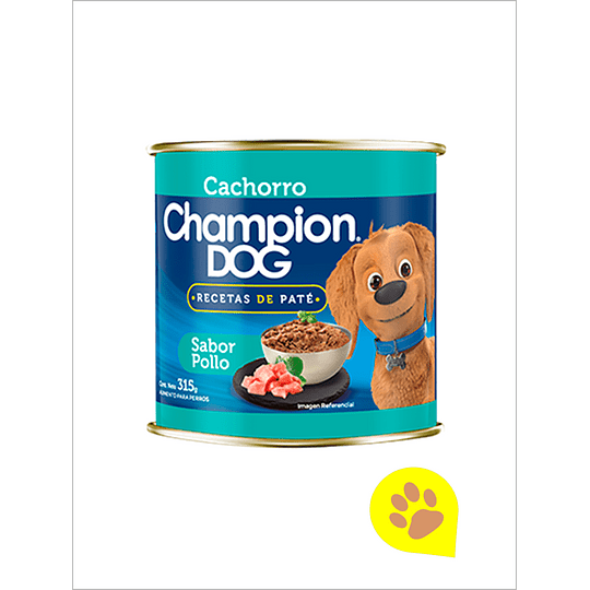 Lata Champion Dog Cachorro Pollo