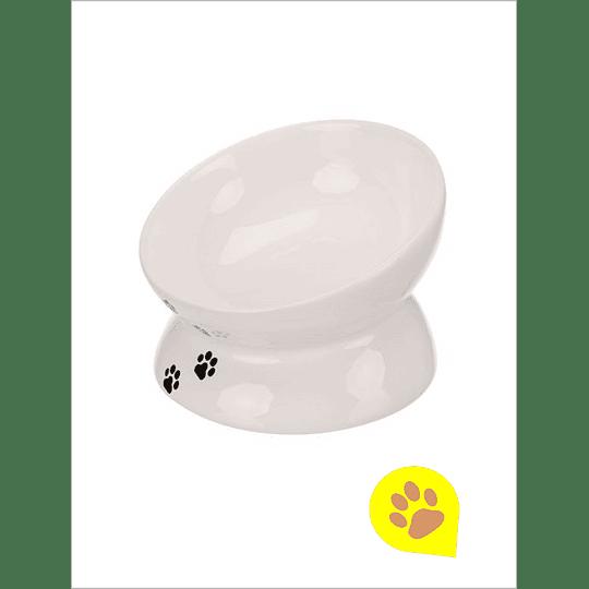 Plato Ceramico Elevado Gato