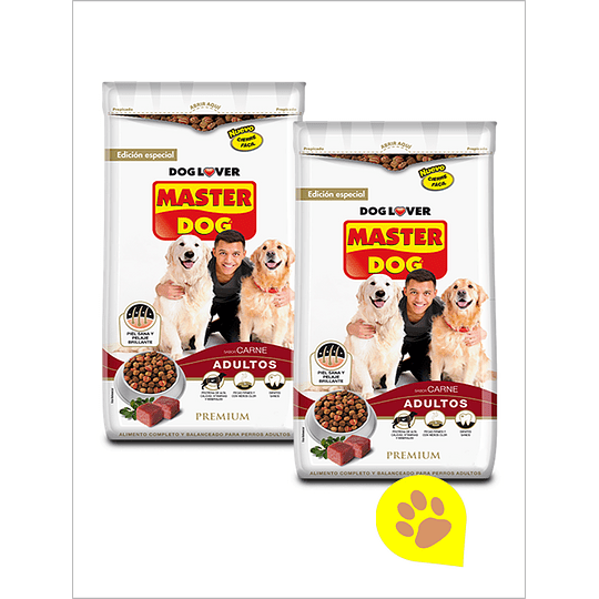 Master Dog Adulto Carne 2x