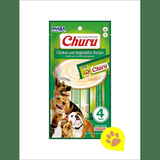 Inaba Churu Perro - Pollo con Vegetales 56 G
