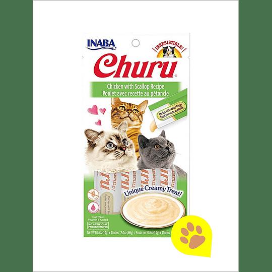 Inaba Churu Gato - Pollo con Almejas 56 Gr