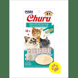 Inaba Churu Gato - Pollo con Cangrejo 56 Gr