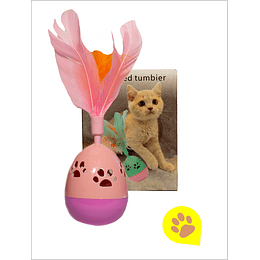 Juguete gato - pluma intumbable