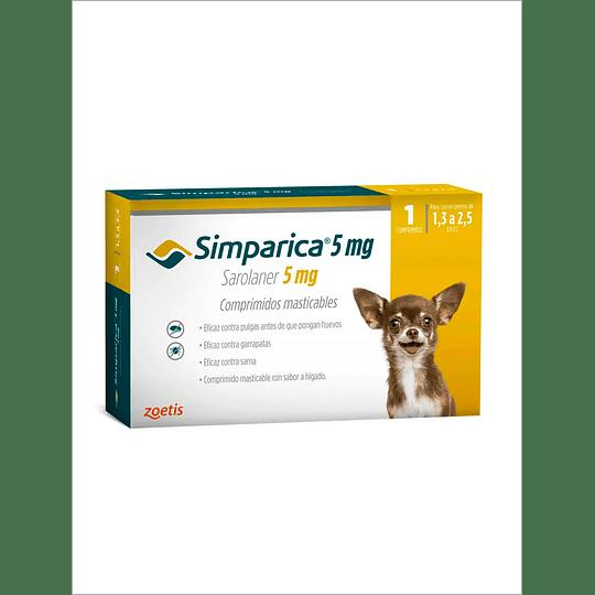 Simparica 5 mg - 1,3 kg a 2,5 kg x 1