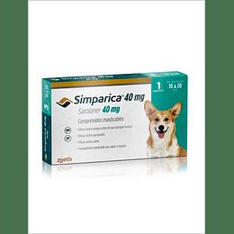 Simparica 40 mg - 10 kg a 20 kg x 1