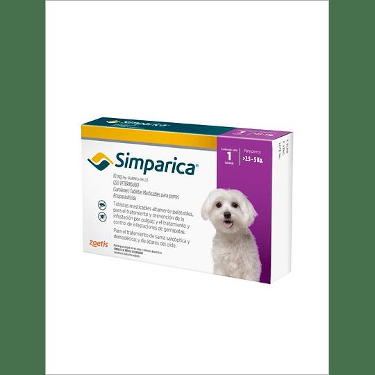 Simparica 10 mg - 2,5 kg a 5 kg x 1
