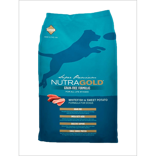 Nutra Gold Grain Free Whitefish 13,6 Kg