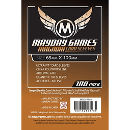 """Magnum Ultra-Fit """"7 Wonders"""" Card Sleeves (65x100mm) - 100 Pack, Standard Thickness"""