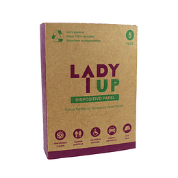 PACK  5 CONOS URINARIOS DE PAPEL BIODEGRADABLE