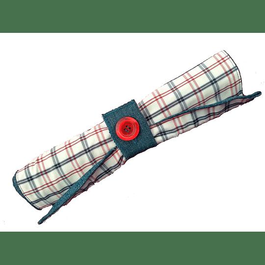 Porta cubiertos de mezclilla