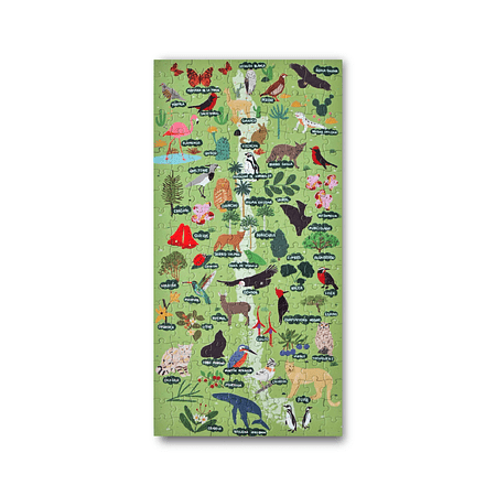 Puzzle Mapa de Chile Flora y Fauna 200 Piezas