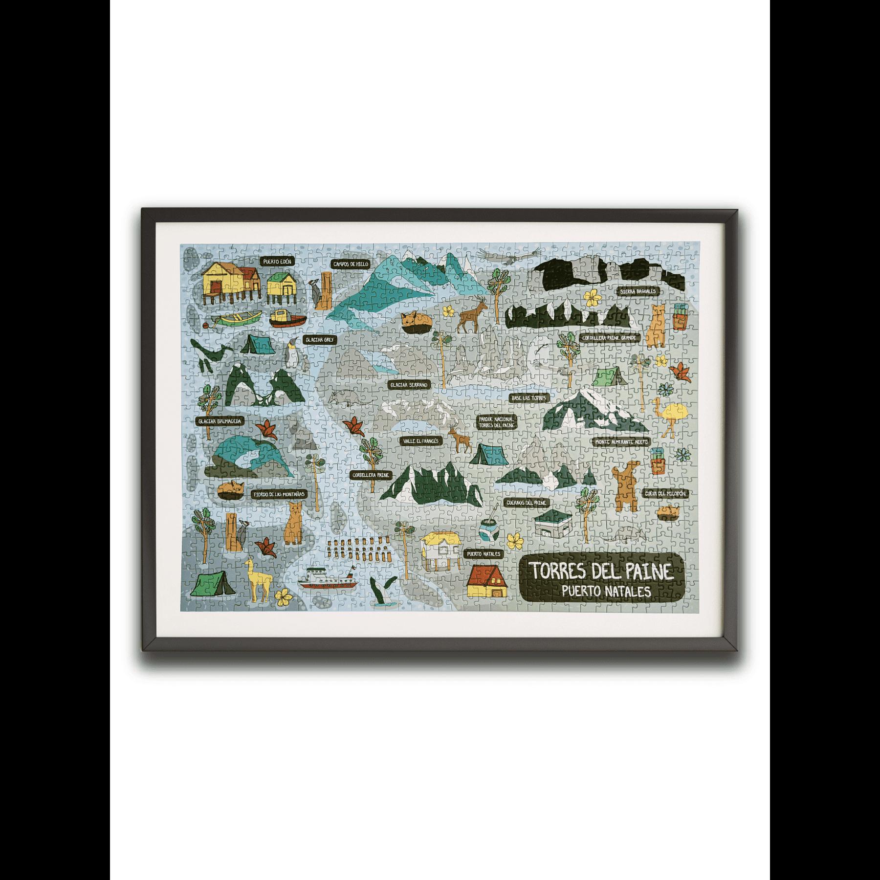 Puzzle Puerto Natales /Torres del Paine 1000 Piezas