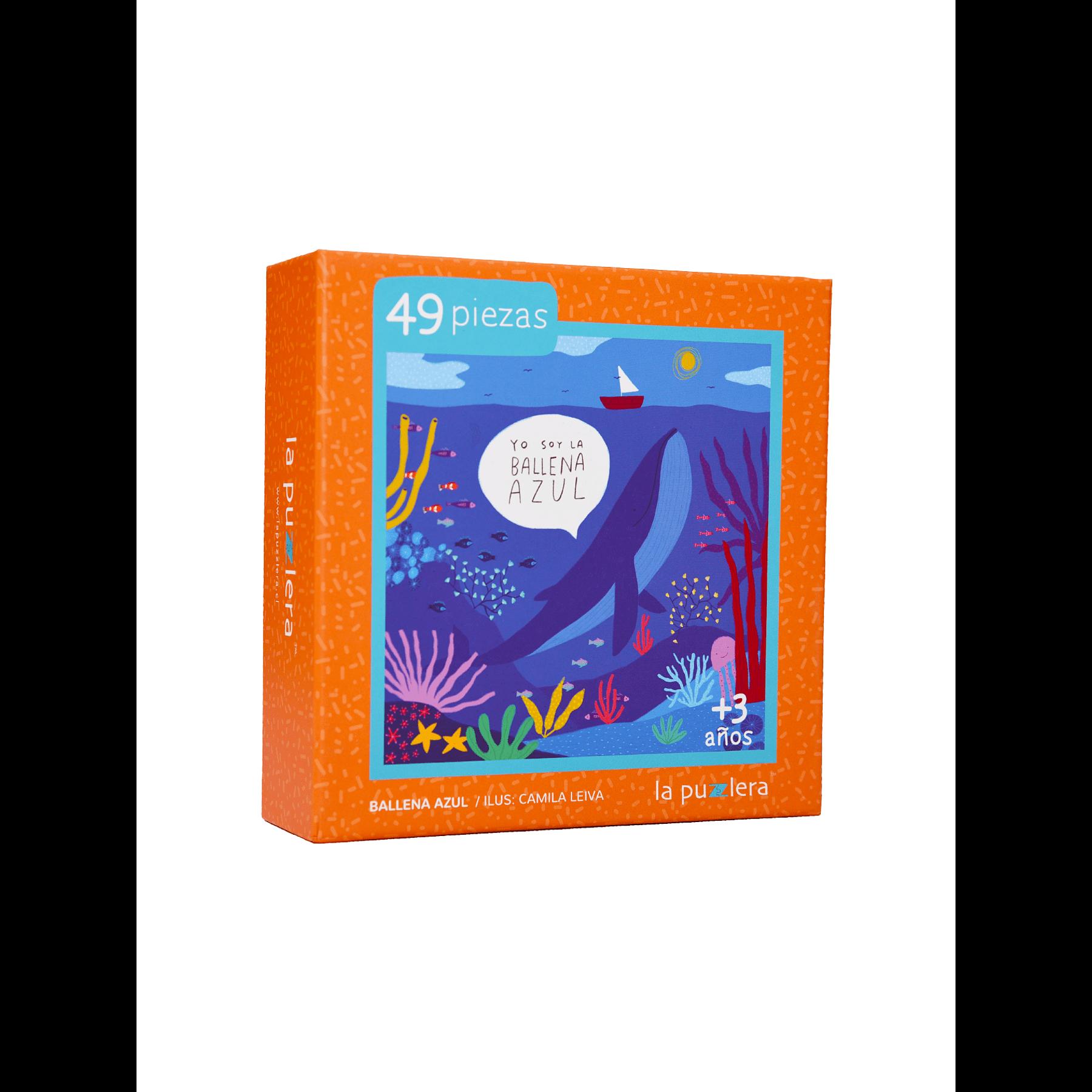 Puzzle Ballena Azul 49 Piezas