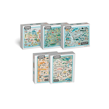 Colección Ciudades de Chile (5 Puzzles)