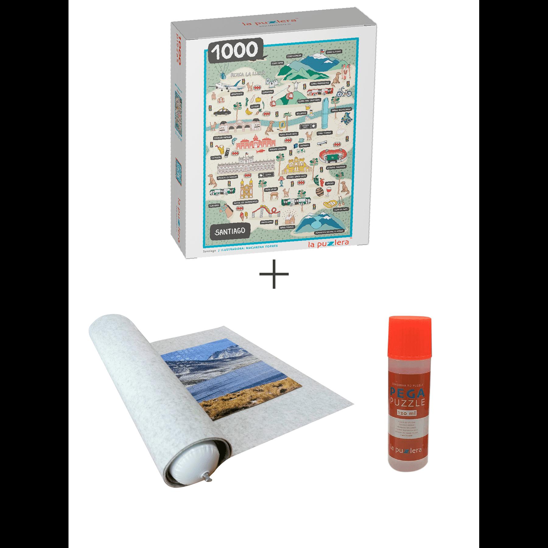 Puzzle 1000 Piezas + Puzzle Mat + Pega Puzzle