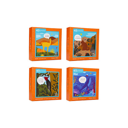 Colección Fauna Chilena Niños 49 Piezas