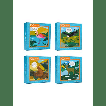 Colección Fauna Chilena Niños 100 Piezas