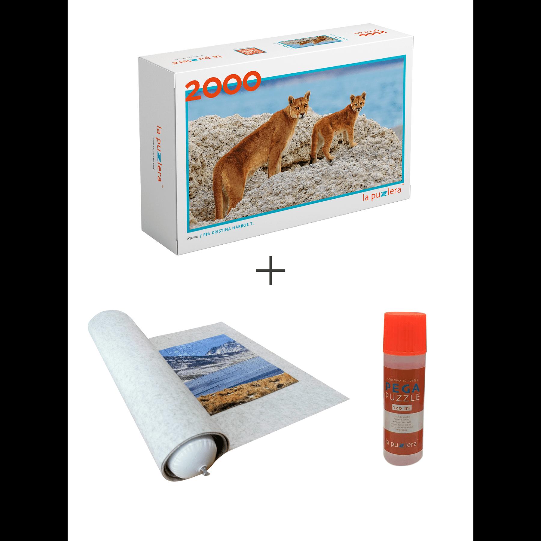 Puzzle Fauna Chilena + Puzzle Mat + Pega Puzzle