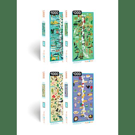 Colección Mapas de Chile 1.000 Piezas  (4 Puzzles)