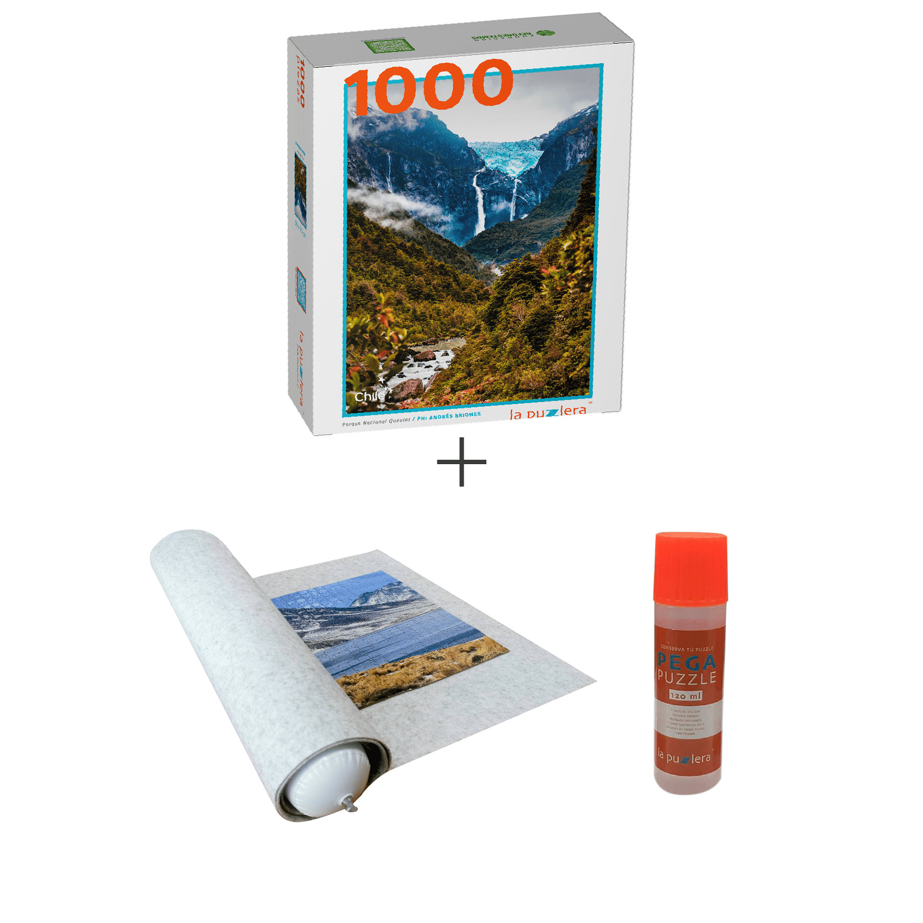 Puzzle 1000 Piezas P.N. de Chile + Puzzle Mat + Pega Puzzle
