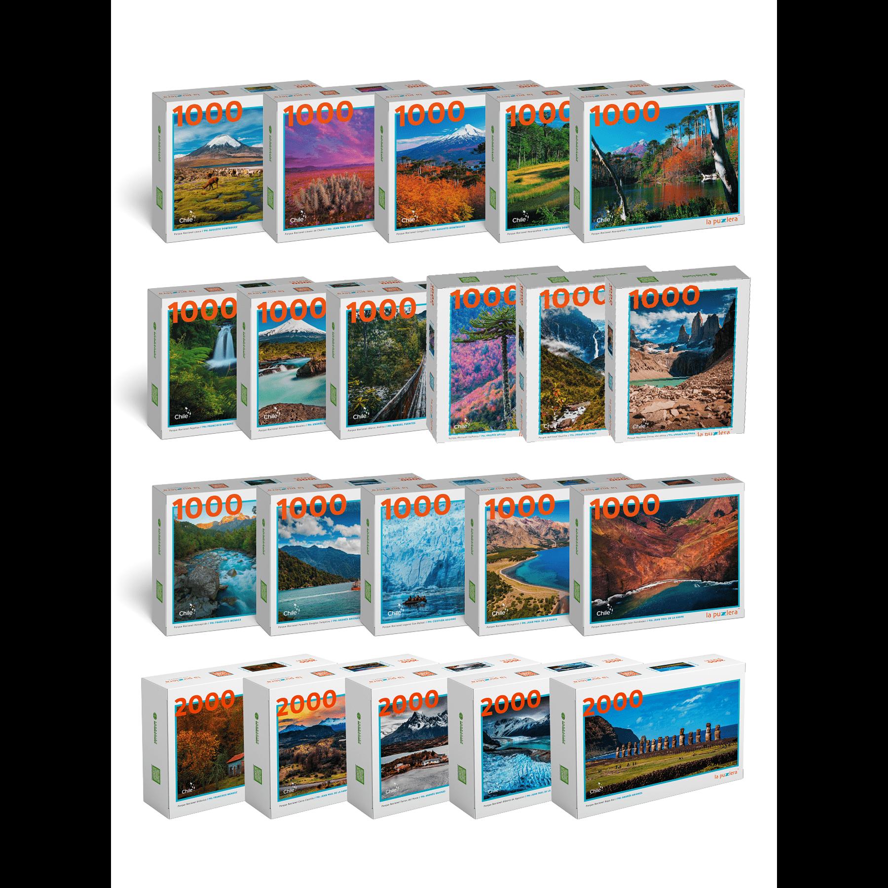 Colección Parques Nacionales de Chile (21 Puzzles)