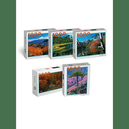 "Pack Puzzles ""Parques de la Araucanía"" (5 Puzzles)"