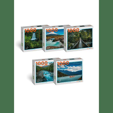 """Pack Puzzles """"Parques de Los Lagos"""" (5 Puzzles)"""