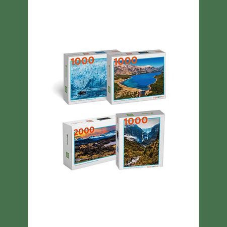 """Pack Puzzles """"Parques de Aysén"""" (4 Puzzles)"""