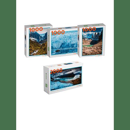 """Pack Puzzles """"Glaciares de Chile"""" (4 Puzzles)"""