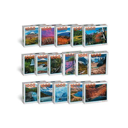 "Pack Puzzles ""Parques Nacionales 1000 Piezas"" (16 Puzzles)"