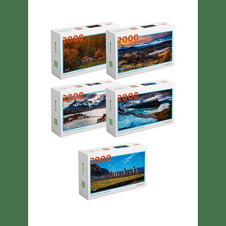 "Pack Puzzles ""Parques Nacionales 2000 Piezas"""