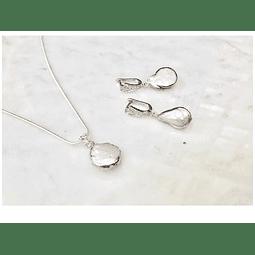 Conjunto perla barroca y plata