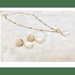 Conjunto mandala y perla