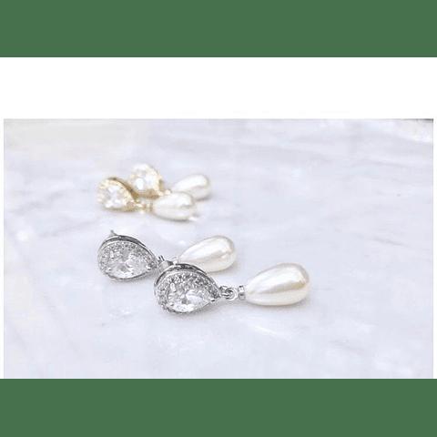Conjunto circones y perlas