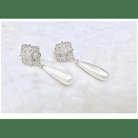 Aros clasic perla