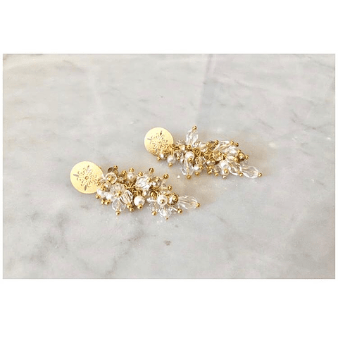 Aros mandala y racimo gold